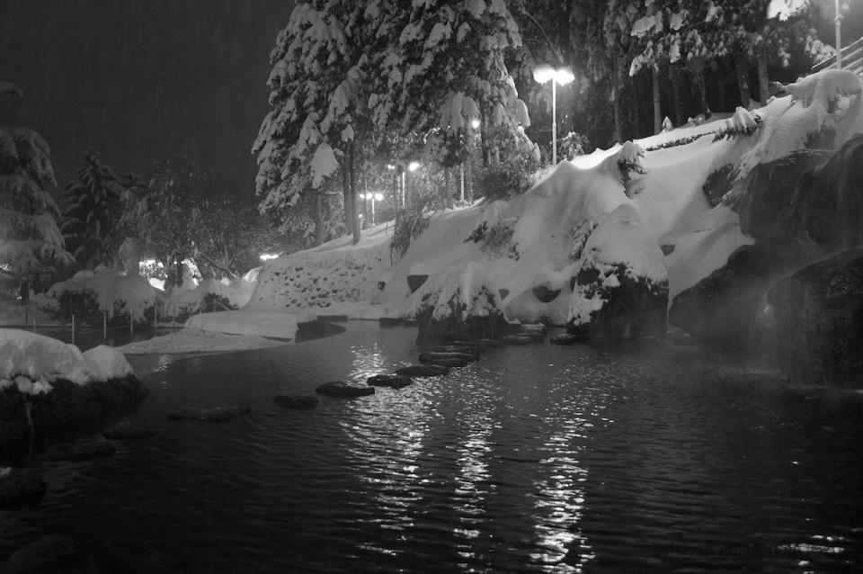 jamshidieh at snowy night, tehran