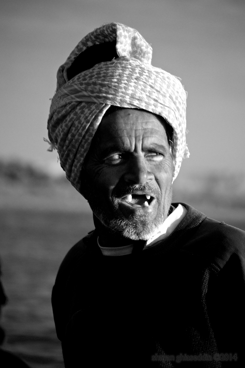 boatman, qeshm island, iran
